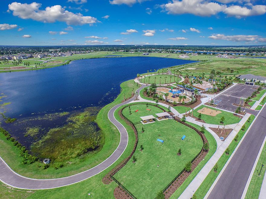 Aerial view of Waterset and the Lakeside