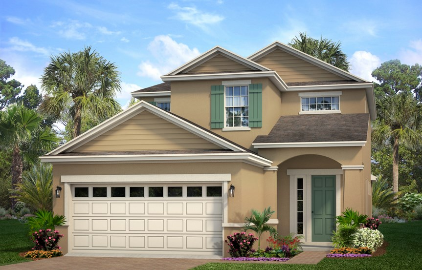 Park Square Carnaval model home rendering in Waterset