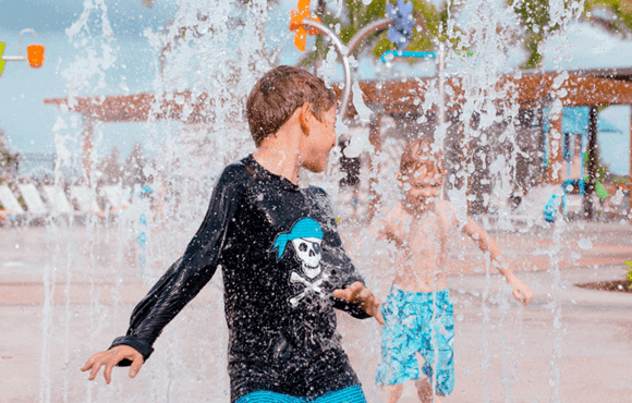 Cool off at the Splash Pad!