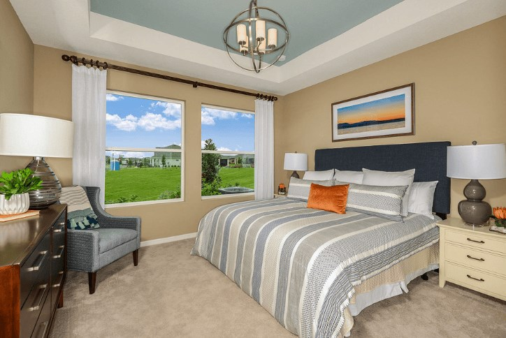 Guest bedrooms Waterset by Newland new home construction Apollo Beach