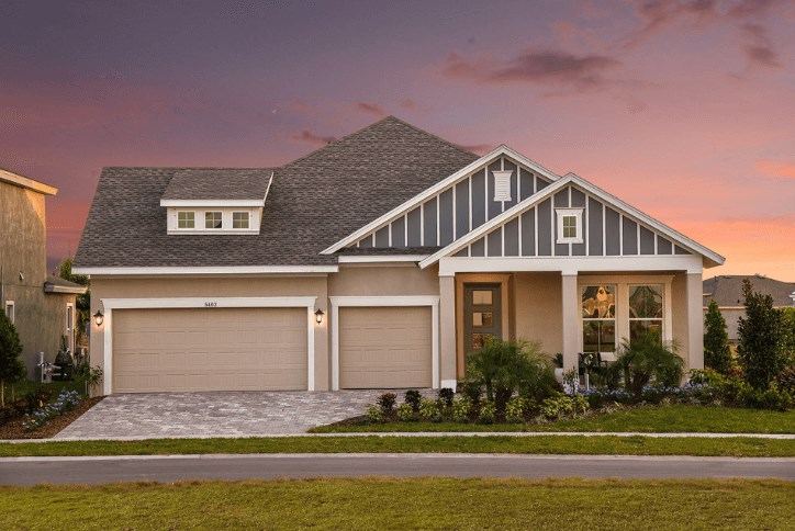 Single-story Design-It-Yourself model home by David Weekley Homes