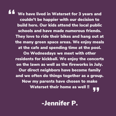 Waterset Facebook testimonial from Jenifer P.