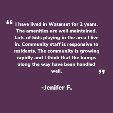 Waterset Facebook testimonial from Jenifer F.