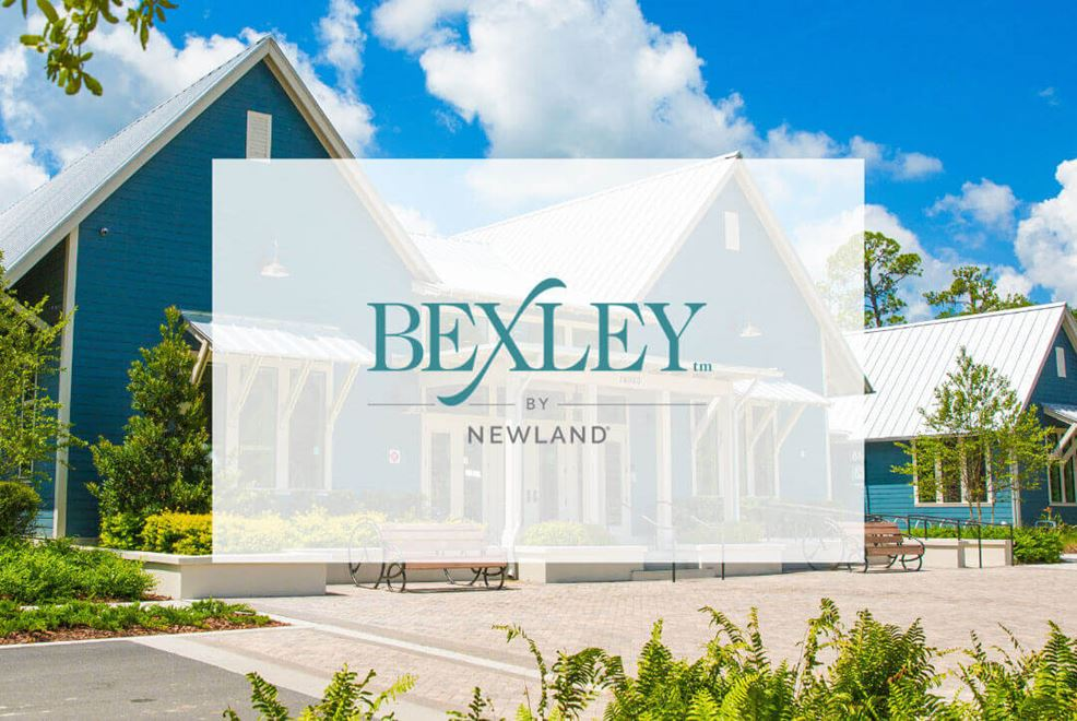 Bexley Clubhouse image with logo overlay.