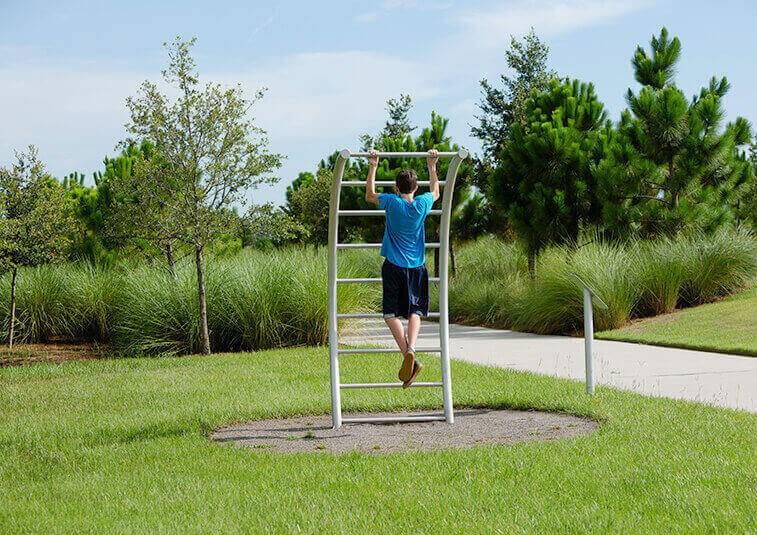 Waterset fitness stations and trails.